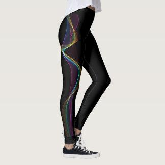 Color wave leggings