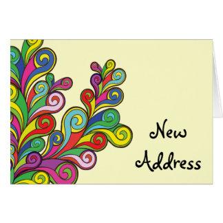 Color Waves Change of Address Card