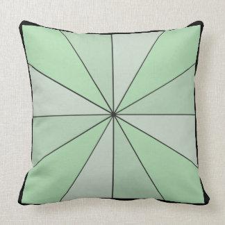 Color Wheel 2 in 1 Green Black Throw Pillow