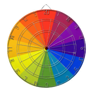 color wheel dartboard