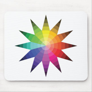 Color Wheel Explosion Mouse Pad