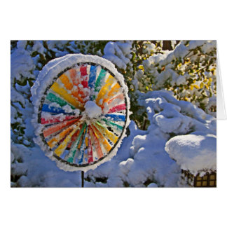 Color Wheel in the Snow Card