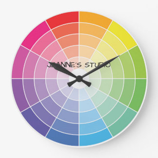 Color Wheel Personalized Clock