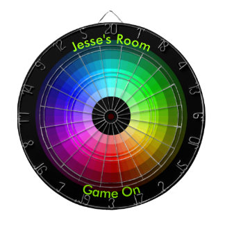Color Wheel Personalized Dartboard