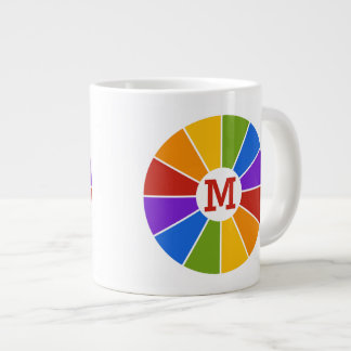 Color Wheel / Rays custom monogram mugs Jumbo Mug