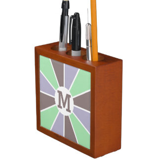 Color Wheel / Rays custom monogram organizer Desk Organizers