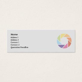 Color Wheel - Skinny Mini Business Card