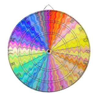 Color Wheel Sparkle Wave Dart Board