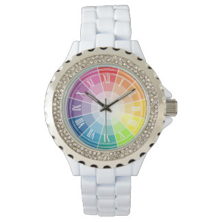 Color wheel wrist watches