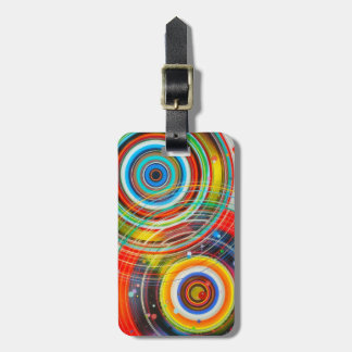 Color Wheels Vibrant Pop Art Personalized Luggage Tag