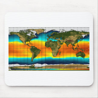 COLOR WORLD MAP MOUSE PAD