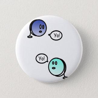 color yo-yo 2 inch round button