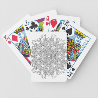 Color Your Clothes - Black and White Supernova Bicycle Playing Cards