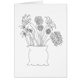 Color Your Own Card - Bouquet