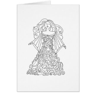Color Your Own Card - Dream Dress