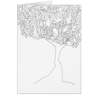 Color Your Own Card - Tree