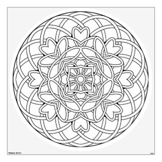 Color Your Own Coloring Book Design Abstract Wall Decal
