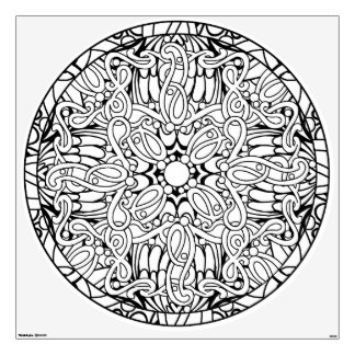 Color Your Own Coloring Book Design Abstract Wall Sticker