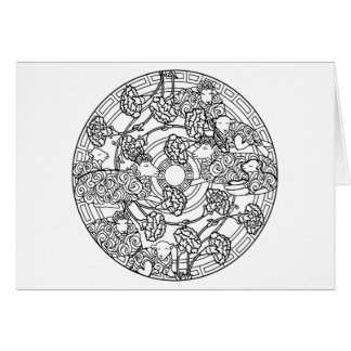 Color Your Own Coloring Book Design Animals Sheep Card