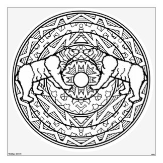 Color Your Own Coloring Book Design Black Bears Wall Sticker