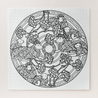 Color Your Own Coloring Book Design Sheep Jigsaw Puzzle
