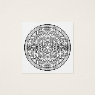Color Your Own Coloring Book Mandala Animals Square Business Card