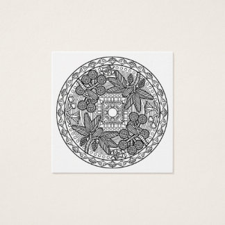 Color Your Own Coloring Book Mandala Palm Tree Square Business Card