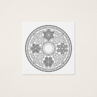 Color Your Own Coloring Book Mandala Snowflake Square Business Card