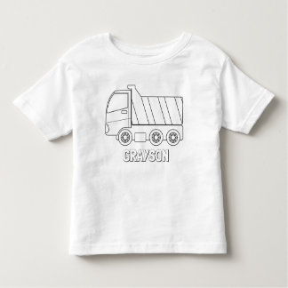 Color Your Own Dump Truck Personalized Shirt
