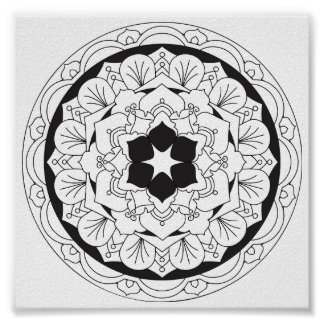 Color-Your-Own Floral Mandala 060517_4 Poster