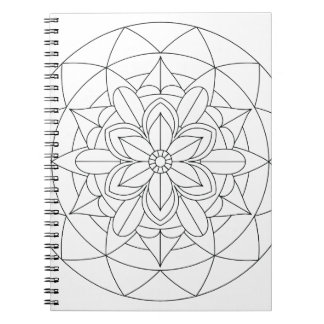 Color-Your-Own Geometric Floral Mandala  060517_2 Notebooks