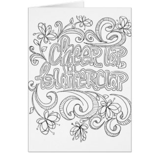 Color your own greeting card positive quotes