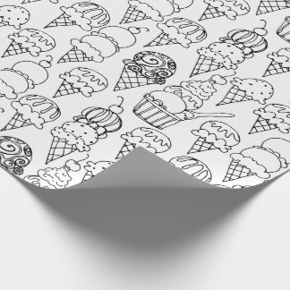 Color Your Own Ice Cream Cones Wrapping Paper