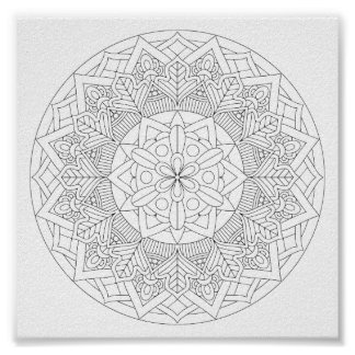 Color-Your-Own Mandala  060517_3 Poster