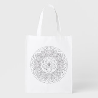 Color-Your-Own Mandala  060517_3 Reusable Grocery Bag