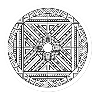 Color Your Own Mandala Abstract Geometric Card