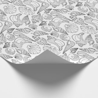 Color Your Own Seashells Wrapping Paper