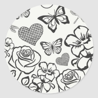 Color Your Own Sticker butterflies and flowers