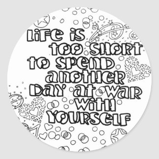 Color Your Own Sticker life quote