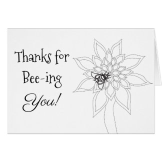 Color Your Own Thank you Card Bumblebee