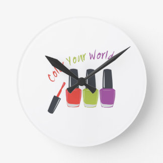 Color Your World Round Clock