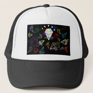 color your world trucker hat