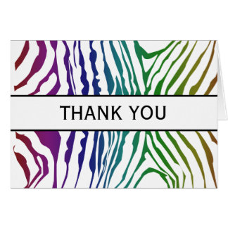 COlor Zebra Patterns Card