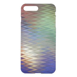 Color Zigzag iPhone X/8/7 Plus Clear Case