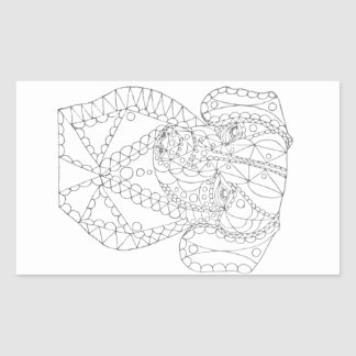 Colorable Dachshund Abstract Art Adult Coloring