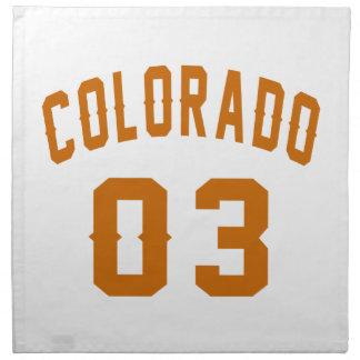 Colorado 03 Birthday Designs Napkin