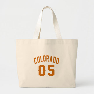 Colorado 05 Birthday Designs Large Tote Bag