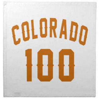 Colorado 100  Birthday Designs Napkin