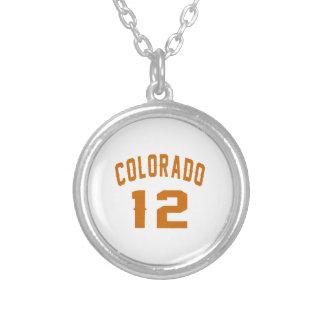 Colorado 12 Birthday Designs Silver Plated Necklace