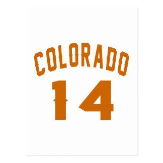 Colorado 14 Birthday Designs Postcard